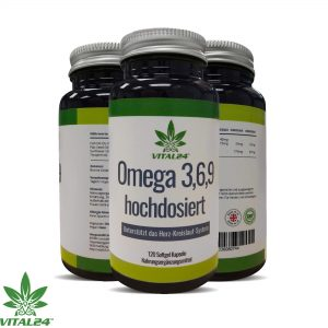 Omega 3-6-9 Fischölkapseln, reich an EPA und DHA